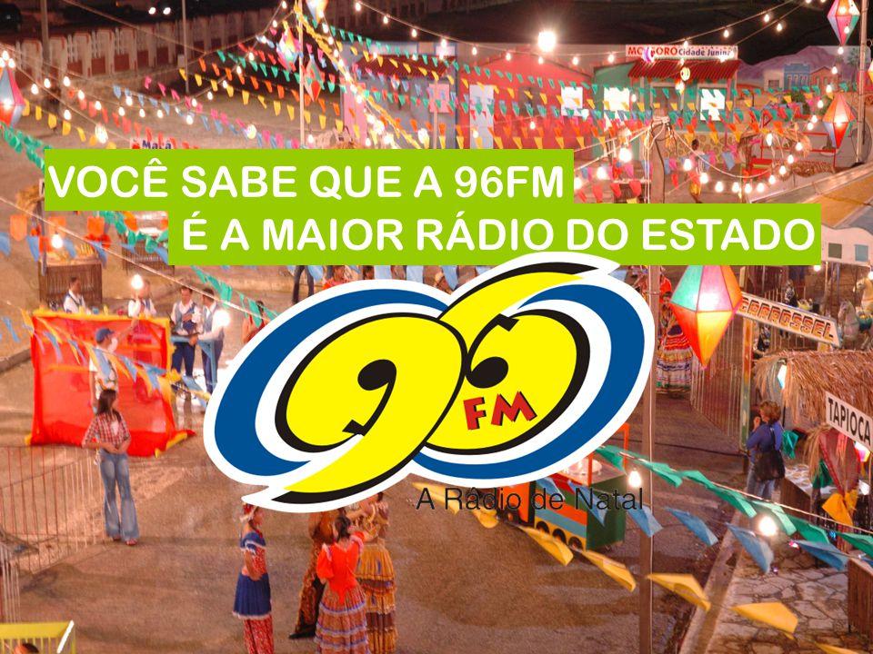 VOCÊ SABE QUE A 96FM É A MAIOR RÁDIO DO ESTADO