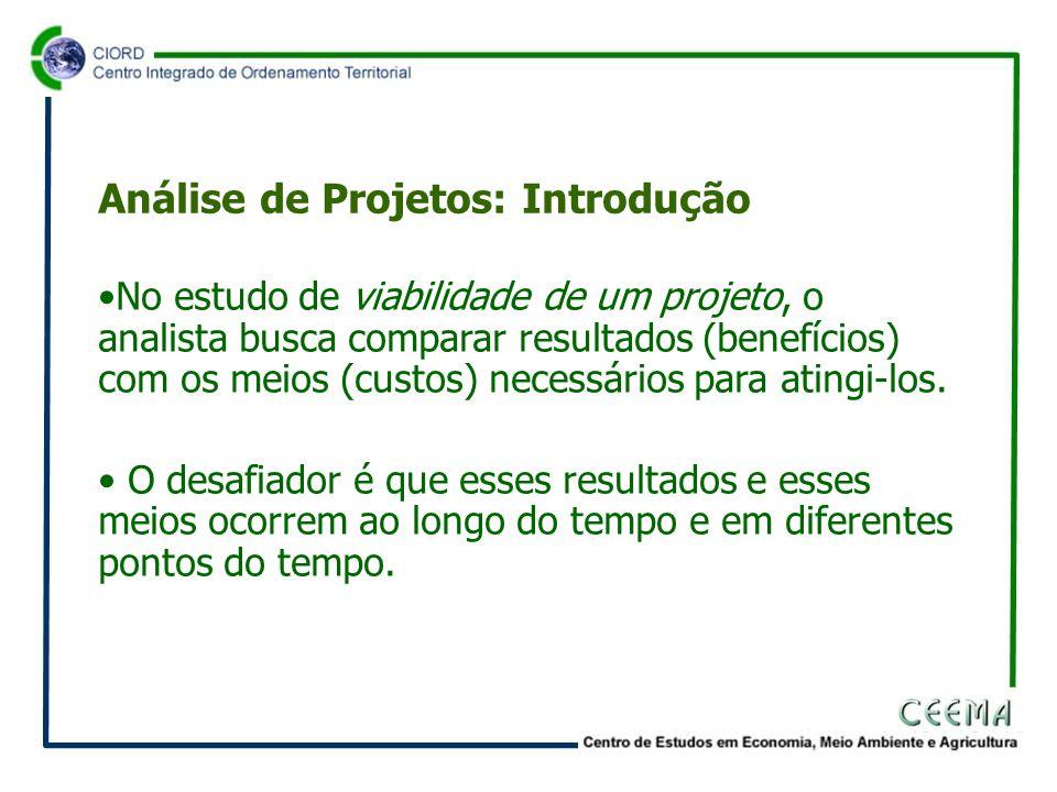 •No estudo de viabilidade de um projeto, o analista busca comparar resultados (benefícios) com os meios (custos) necessários para atingi-los.