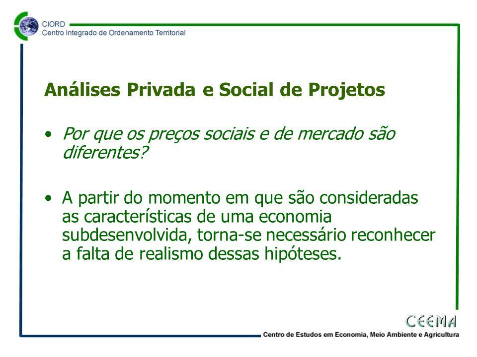 •Por que os preços sociais e de mercado são diferentes.