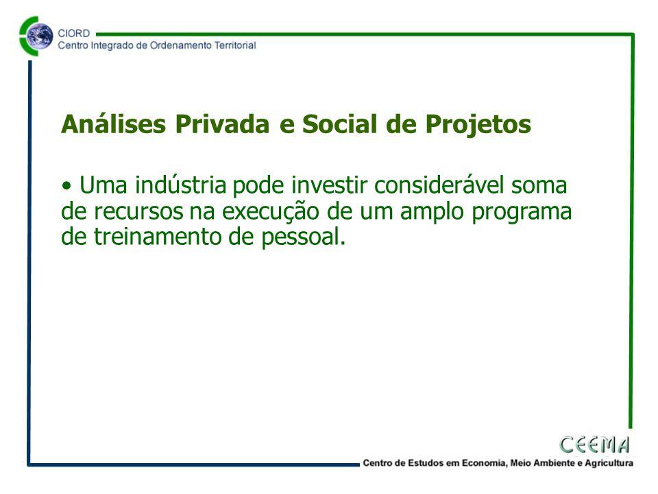 • Uma indústria pode investir considerável soma de recursos na execução de um amplo programa de treinamento de pessoal.