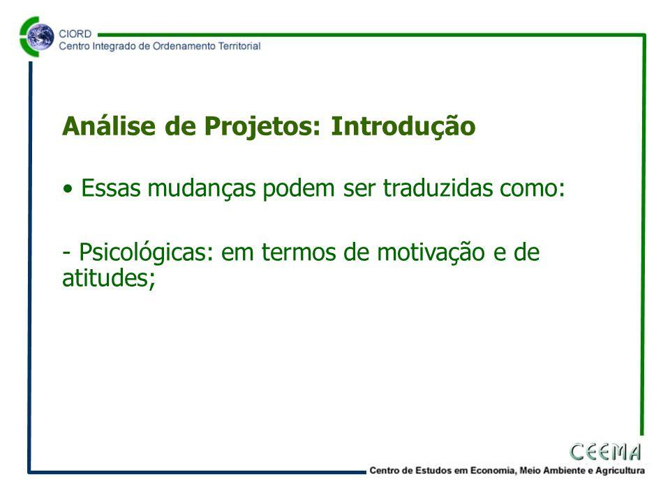 Quadro 1 Classificação de Projetos Ponto de Vista Social +- Ponto de Vista Privado + III - IIIIV Fonte: Contador (2002), p.