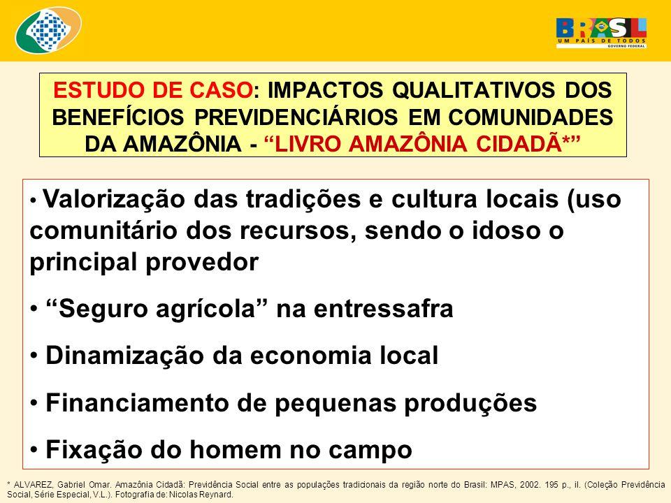 """ESTUDO DE CASO: IMPACTOS QUALITATIVOS DOS BENEFÍCIOS PREVIDENCIÁRIOS EM COMUNIDADES DA AMAZÔNIA - """"LIVRO AMAZÔNIA CIDADÃ*"""" * ALVAREZ, Gabriel Omar. Am"""