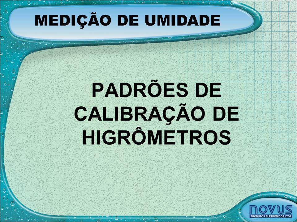 PADRÕES DE CALIBRAÇÃO DE HIGRÔMETROS MEDIÇÃO DE UMIDADE