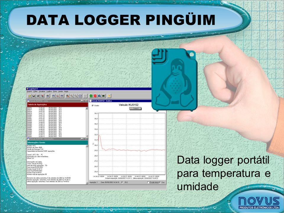 DATA LOGGER PINGÜIM Data logger portátil para temperatura e umidade