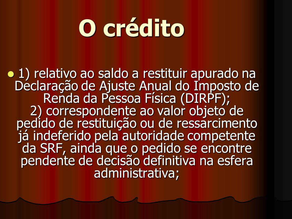 Vedações à compensação: 3333) consolidado em qualquer modalidade de parcelamento concedido pela SRF; ou 4) o débito que já tenha sido objeto de co