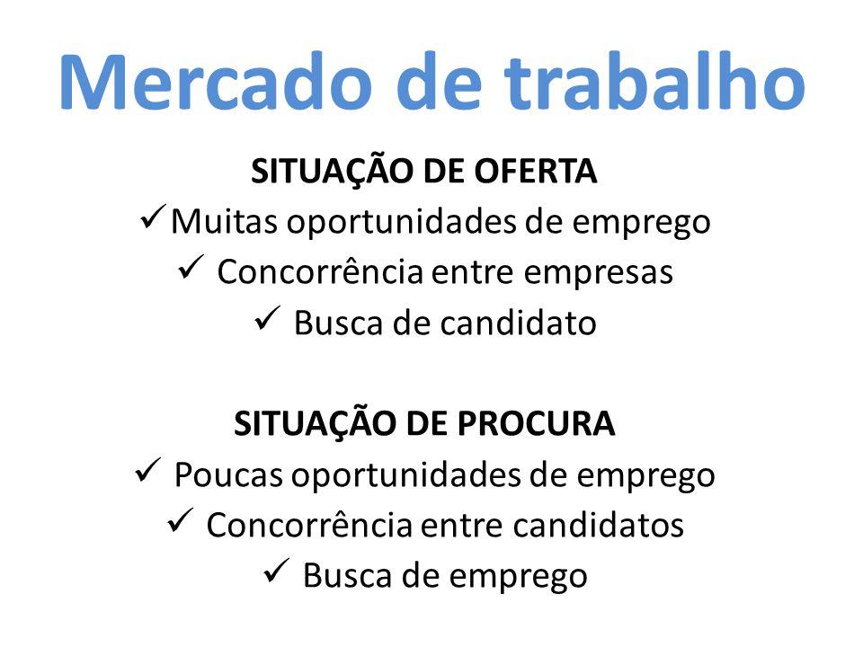 O Mercado Formal e Informal ● Quando for procurar emprego, é bom saber que tipo de vínculo empregatício você terá ou deverá buscar.