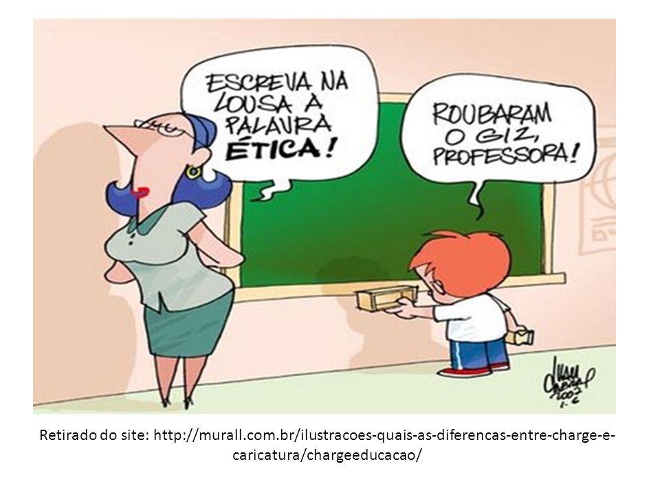 Retirado do site: http://murall.com.br/ilustracoes-quais-as-diferencas-entre-charge-e- caricatura/chargeeducacao/