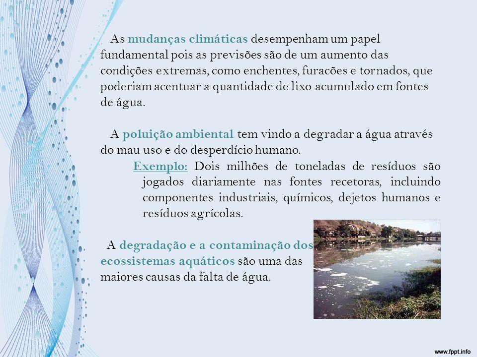 Uma das mais trágicas consequências da falta de água são as mortes e doenças de crianças com idades inferiores a 5 anos devido à desidratação e à água contaminada e o pior de tudo é que estas doenças e mortes afetam cerca 5 milhões de pessoas das mais variadas idades.