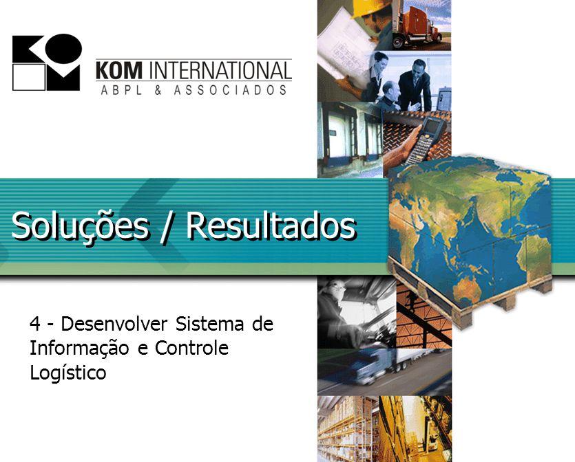 Soluções / Resultados 4 - Desenvolver Sistema de Informação e Controle Logístico