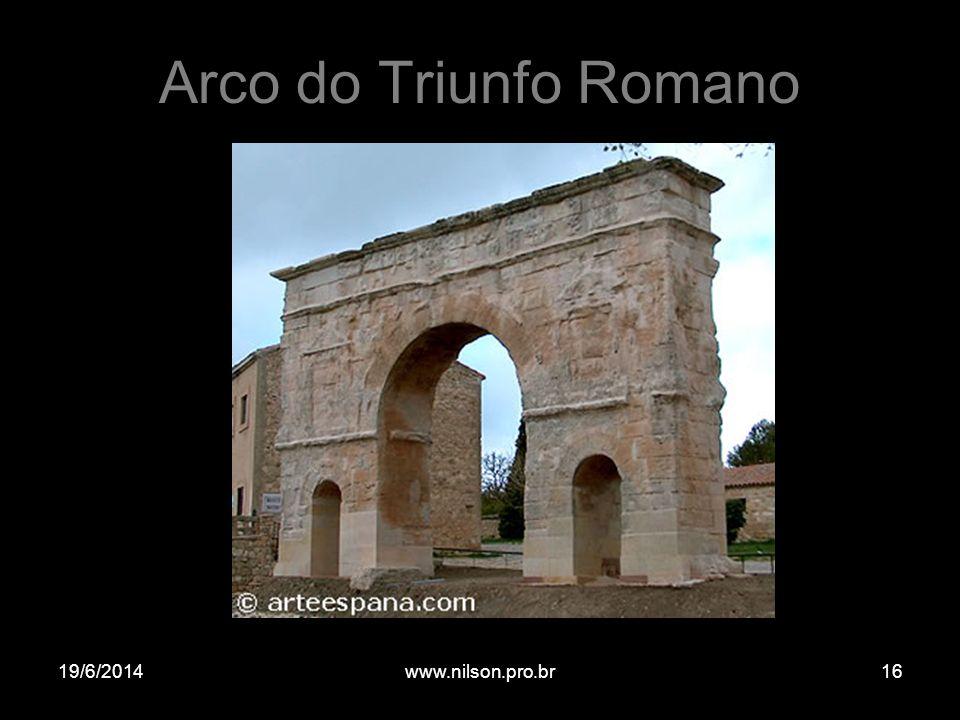 Arco do Triunfo Romano 19/6/201416www.nilson.pro.br