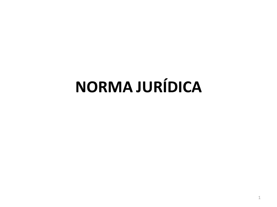 NORMA JURÍDICA 1