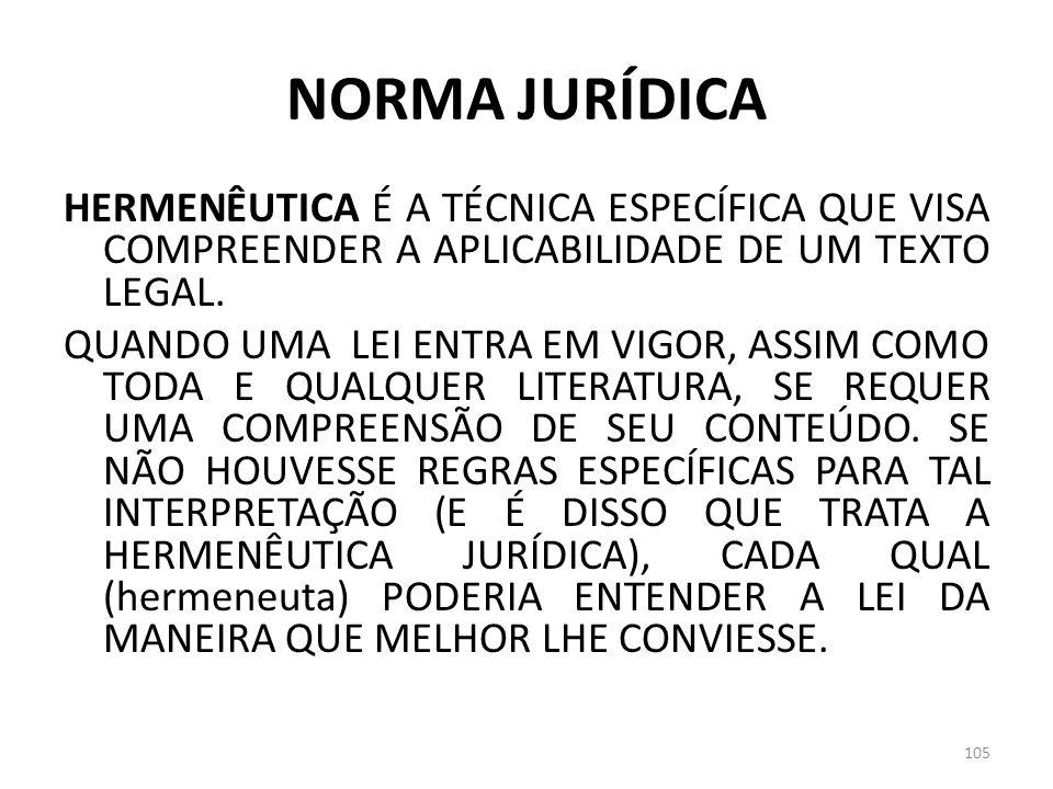 NORMA JURÍDICA HERMENÊUTICA É A TÉCNICA ESPECÍFICA QUE VISA COMPREENDER A APLICABILIDADE DE UM TEXTO LEGAL. QUANDO UMA LEI ENTRA EM VIGOR, ASSIM COMO
