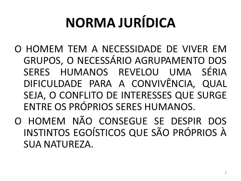 NORMA JURÍDICA COISA JULGADA É UMA QUALIDADE DOS EFEITOS DO JULGAMENTO.