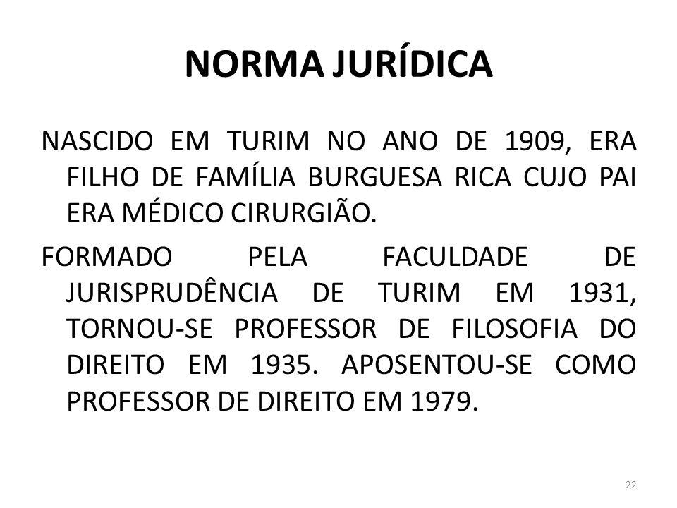 NORMA JURÍDICA NASCIDO EM TURIM NO ANO DE 1909, ERA FILHO DE FAMÍLIA BURGUESA RICA CUJO PAI ERA MÉDICO CIRURGIÃO. FORMADO PELA FACULDADE DE JURISPRUDÊ