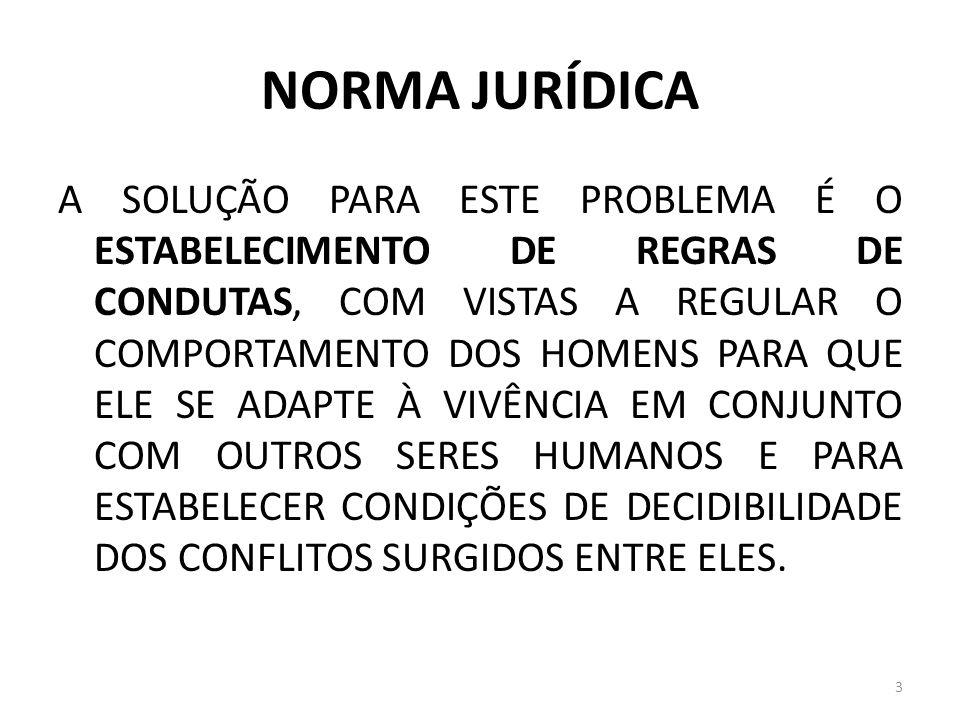 NORMA JURÍDICA O PROBLEMA DAS LACUNAS DAS NORMAS ART.