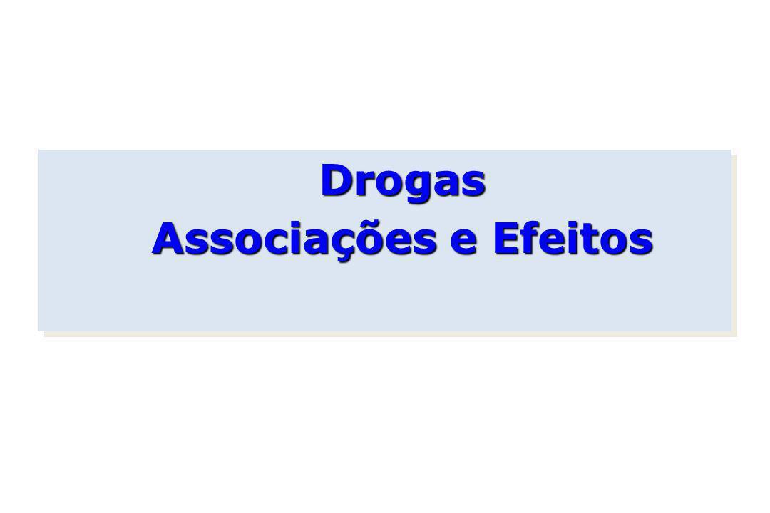 Drogas Associações e Efeitos Drogas