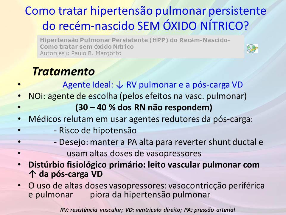 Como tratar hipertensão pulmonar persistente do recém-nascido SEM ÓXIDO NÍTRICO? Hipertensão Pulmonar Persistente (HPP) do Rec é m-Nascido- Como trata