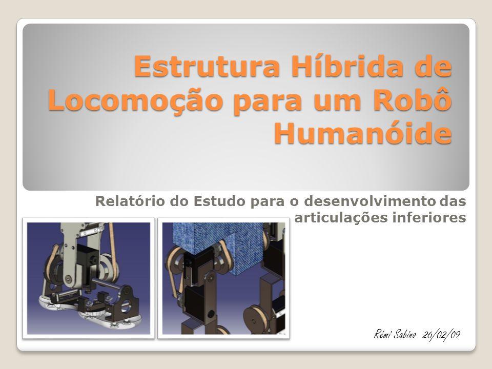 Estrutura Híbrida de Locomoção para um Robô Humanóide Relatório do Estudo para o desenvolvimento das articulações inferiores Rémi Sabino26/02/09