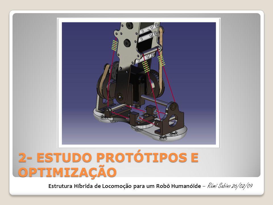 2- ESTUDO PROTÓTIPOS E OPTIMIZAÇÃO Estrutura Híbrida de Locomoção para um Robô Humanóide – Rémi Sabino 26/02/09
