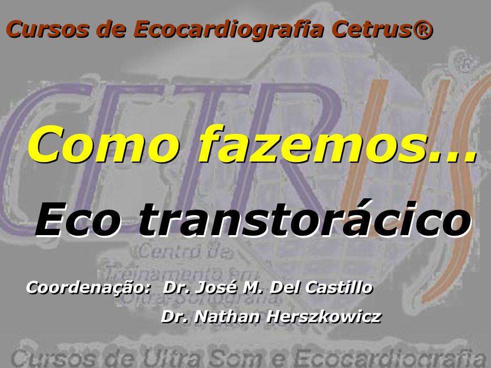 Cursos de Ecocardiografia Cetrus® Como fazemos... Como fazemos... Coordenação: Dr. José M. Del Castillo Dr. Nathan Herszkowicz Coordenação: Dr. José M