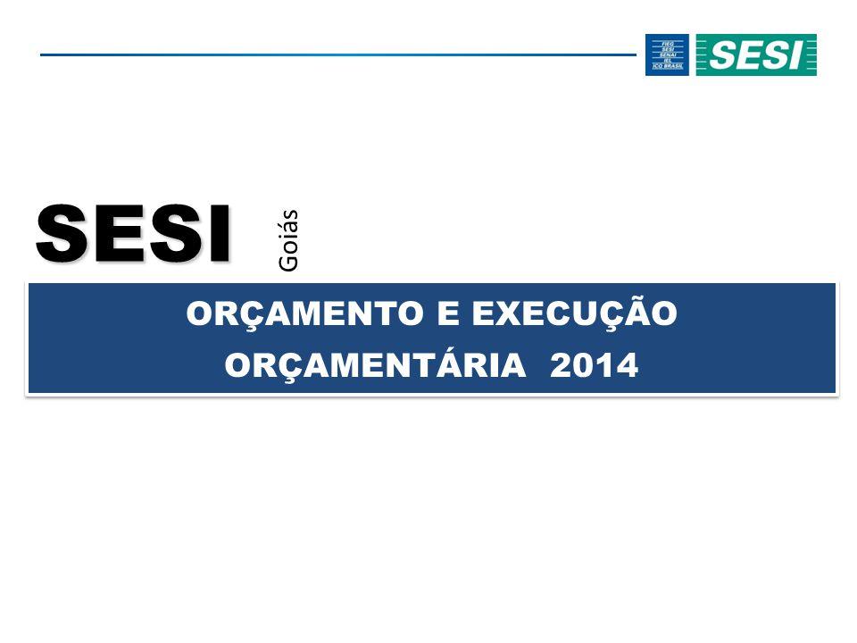 SESI Goiás ORÇAMENTO E EXECUÇÃO ORÇAMENTÁRIA 2014