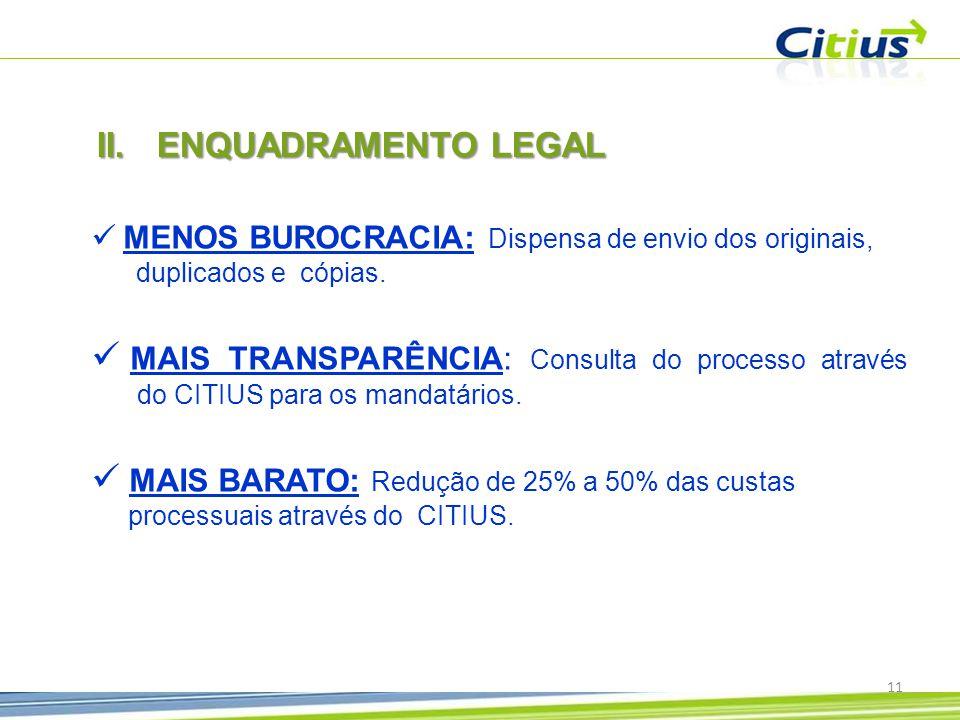  MENOS BUROCRACIA: Dispensa de envio dos originais, duplicados e cópias.