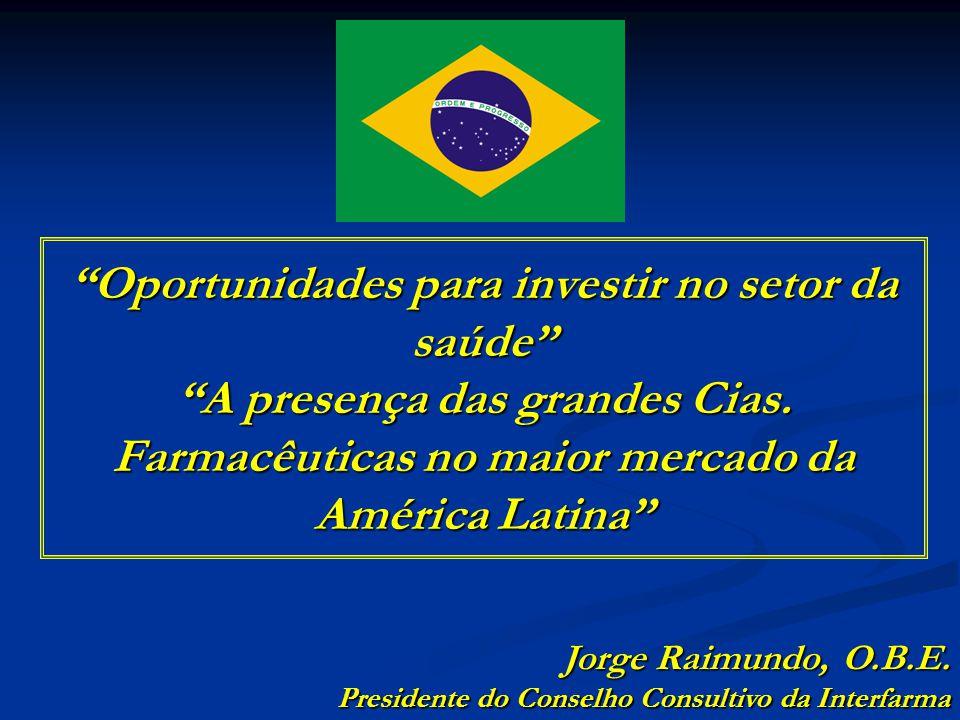 Brasil está entre os 5 maiores países em área territorial e população Source: CIA – The World Fact Book 2008 (Population in 2007) (Population in 2007) População X Área territorial RUSSIA Pop: 142 CANADA Pop: 33 USA Pop: 301 BRASIL Pop: 192 INDIA Pop: 1.130 CHINA Pop: 1.322 área: 17 área: 10 área: 9,8 área: 9,6 área: 8,5 área: 3,3 População(MI) Tamanho da bandeira: Área (MI Km 2 )