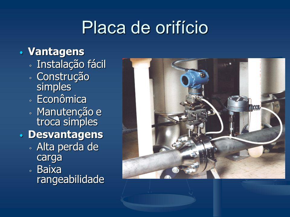 Rotâmetros  O fluido passa através do tubo da base para o topo.
