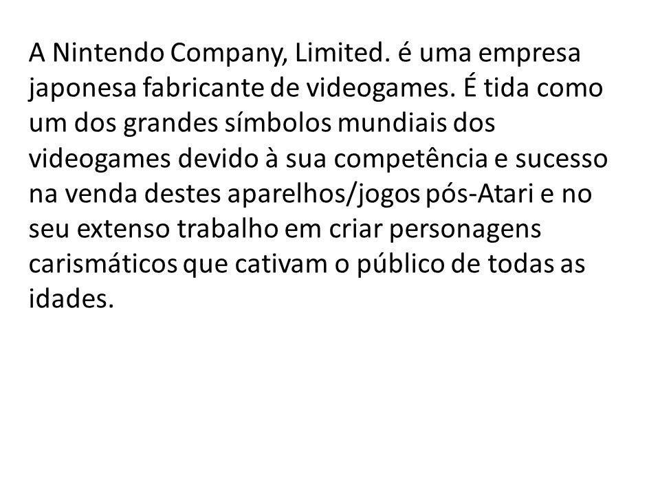 A Nintendo Company, Limited. é uma empresa japonesa fabricante de videogames. É tida como um dos grandes símbolos mundiais dos videogames devido à sua