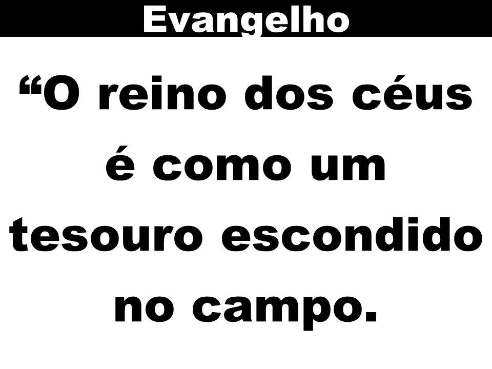"""""""O reino dos céus é como um tesouro escondido no campo. Evangelho"""