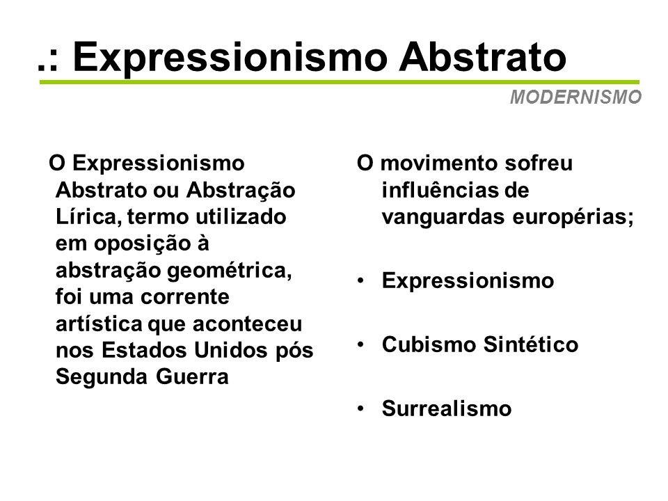 .: Expressionismo Abstrato MODERNISMO Edvard Munch O Grito - 1893