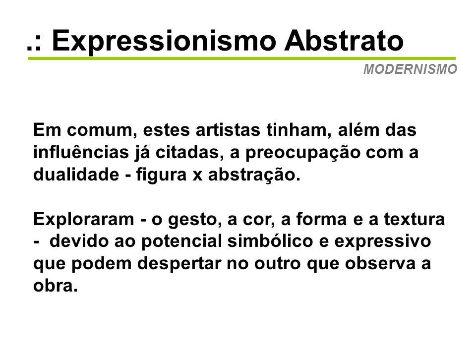 .: Expressionismo Abstrato MODERNISMO Mark Rothko: Orange and Yellow de 1956