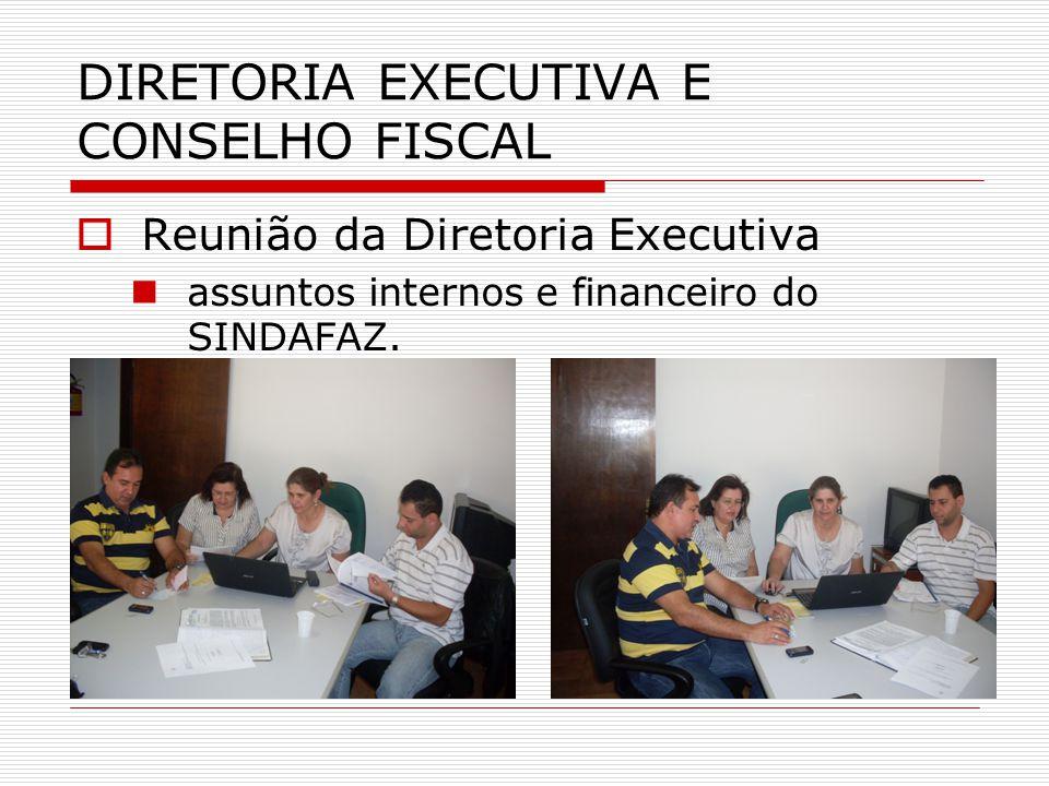  Reunião da Diretoria Executiva  assuntos internos e financeiro do SINDAFAZ.