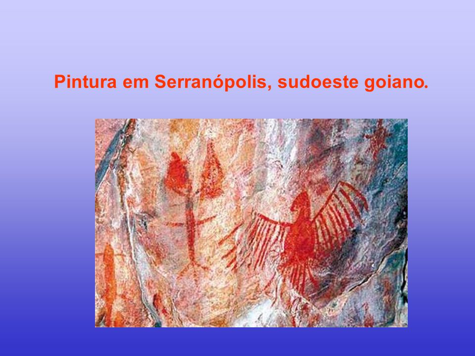 Pintura em Serranópolis, sudoeste goiano.
