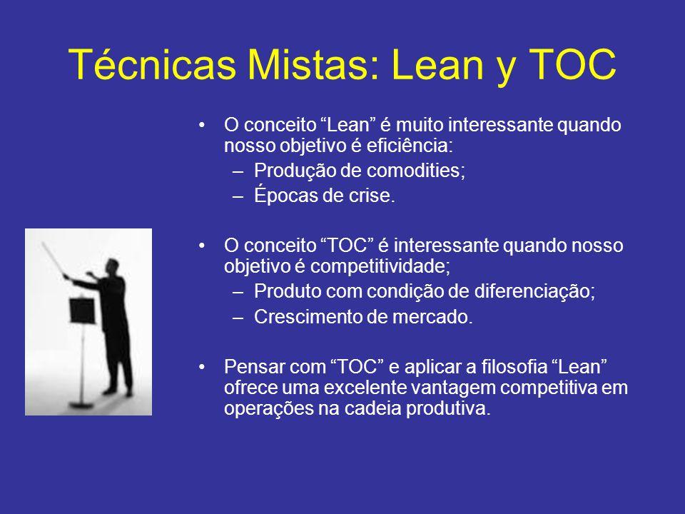 """•O conceito """"Lean"""" é muito interessante quando nosso objetivo é eficiência: –Produção de comodities; –Épocas de crise. •O conceito """"TOC"""" é interessant"""