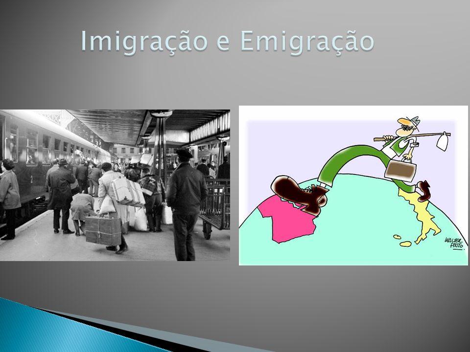  Migrações Internacionais:  Mudança para outros países.