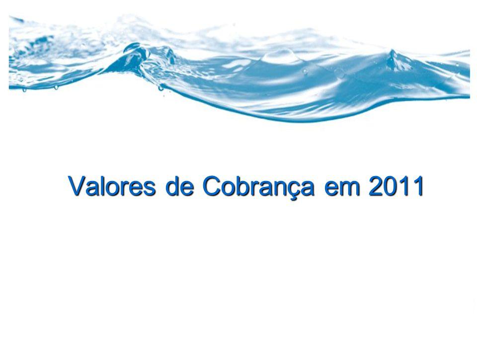Valores de Cobrança em 2011