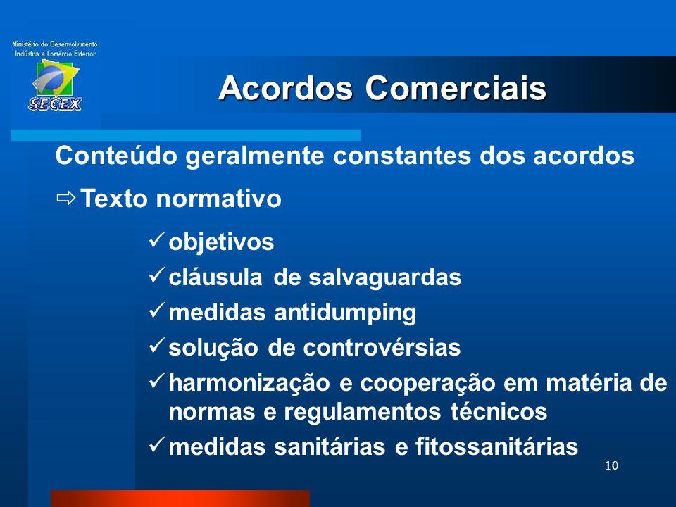 10  objetivos  cláusula de salvaguardas  medidas antidumping  solução de controvérsias  harmonização e cooperação em matéria de normas e regulame