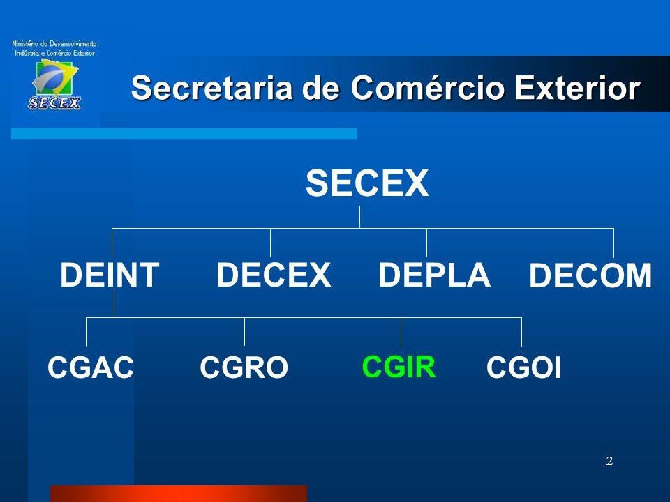 33 Associação Latino Americana de Integração Aladi ACE 02 Brasil/Uruguai  PEC  Preferências de 100% a diversos produtos - alguns sujeitos a quota  Setor automotivo - 68º Protocolo Adicional
