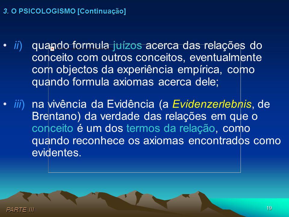 19 •ii) quando formula juízos acerca das relações do conceito com outros conceitos, eventualmente com objectos da experiência empírica, como quando fo