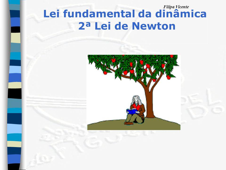 Filipa Vicente Lei fundamental da dinâmica 2ª Lei de Newton