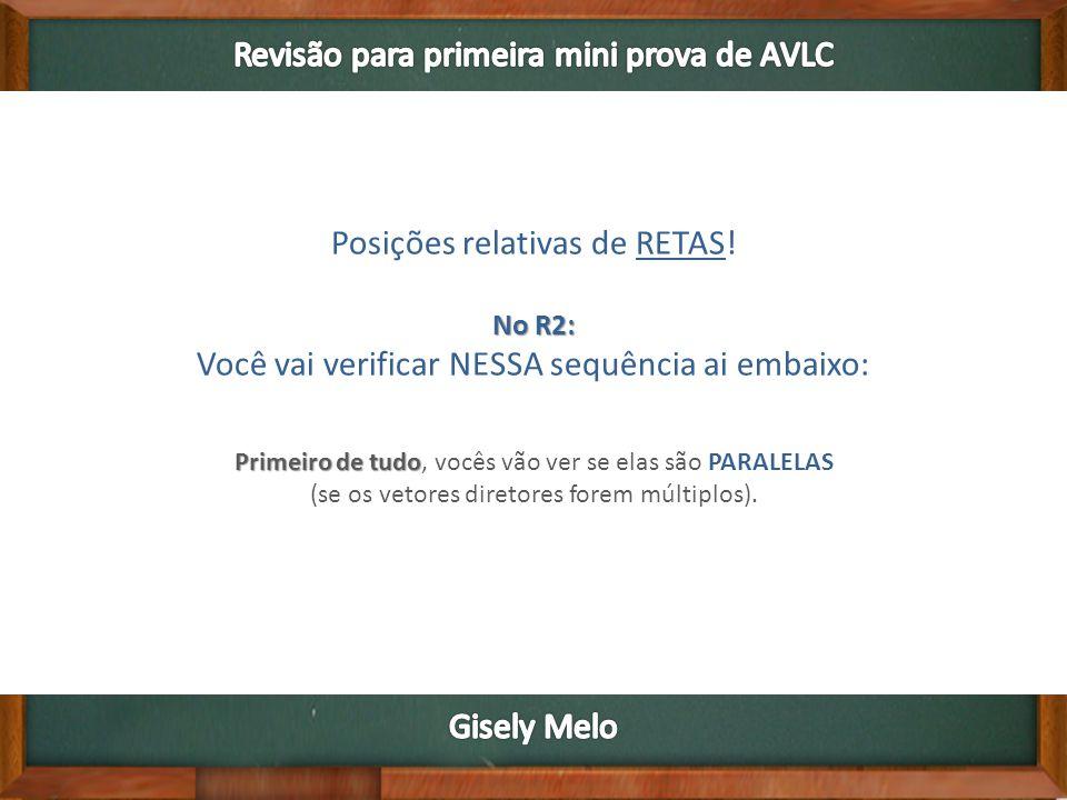 Posições relativas de RETAS.