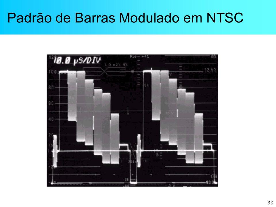 38 Padrão de Barras Modulado em NTSC