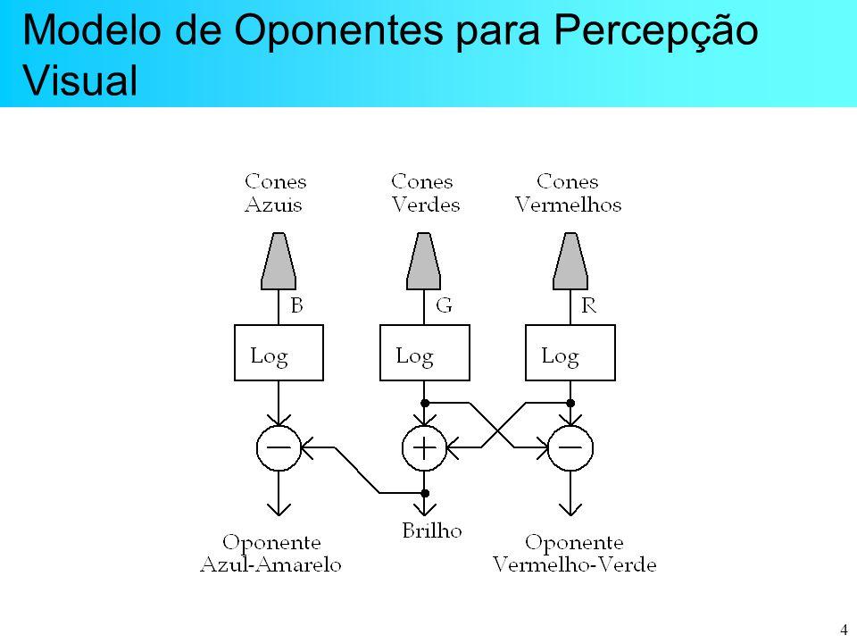 4 Modelo de Oponentes para Percepção Visual