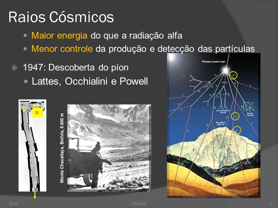 Medidas Precisas  Década de 90  Colaborações ALEPH, DELPHI, L3 e OPAL  Large Electron Positron (LEP) Collider @ CERN Medidas precisas das propriedades do bóson Z 2010SPRACE17