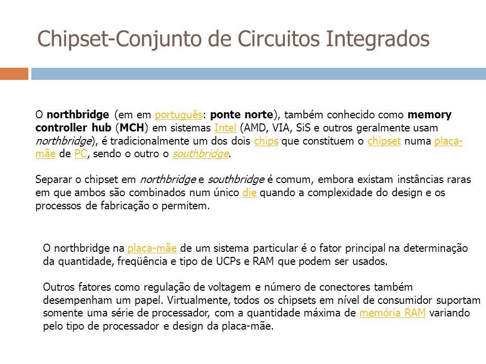 O northbridge (em em português: ponte norte), também conhecido como memory controller hub (MCH) em sistemas Intel (AMD, VIA, SiS e outros geralmente u