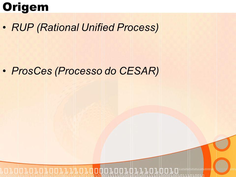 Origem •RUP (Rational Unified Process) •ProsCes (Processo do CESAR)