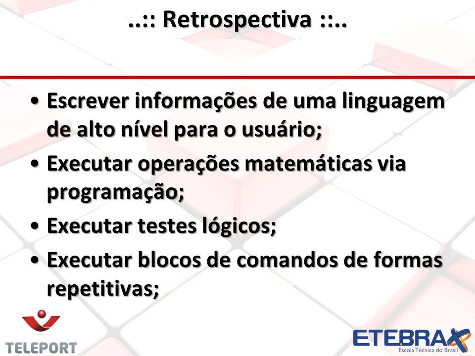 •C•C•C•Criar banco de dados; •C•C•C•Criar tabelas; •C•C•C•Comandos SQL; •C•C•C•Conectar uma linguagem de alto nível com banco de dados; •E•E•E•Executar comandos de uma linguagem de alto nível em um banco de dados;