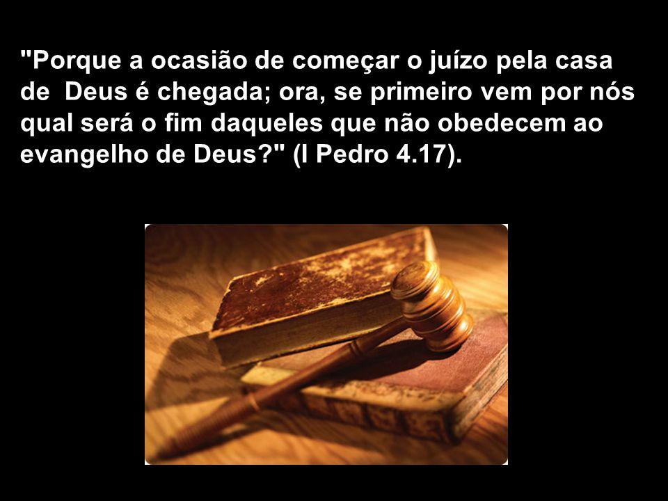 - quando duvidamos da volta de Jesus, não há genuína conversão; - quando não há genuína conversão, estamos no inferno; - quando não há temor a Deus, p