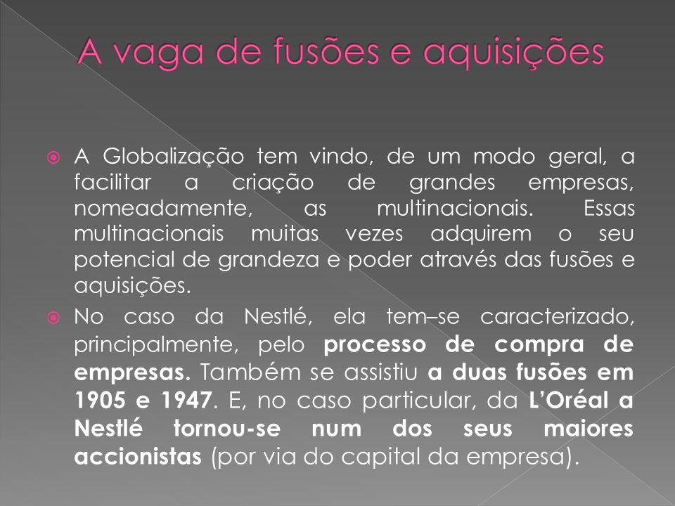 A Globalização tem vindo, de um modo geral, a facilitar a criação de grandes empresas, nomeadamente, as multinacionais.